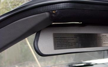 used sunvisor
